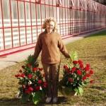 Никитина Лилия Салиховна с букетами